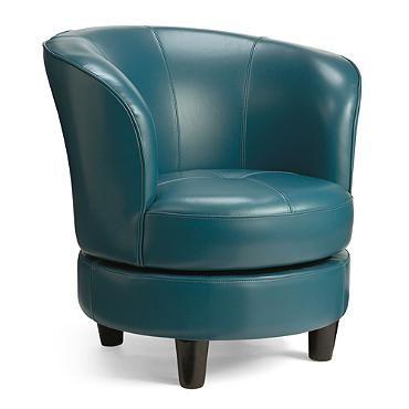 Rebecca Leather Swivel Chair-grandin road