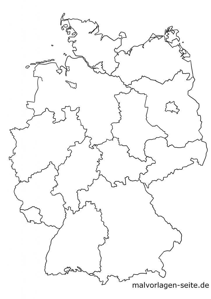 landkarte deutschland schwarz weiß Bundesländer Deutschland – Karte & Hauptstädte in 2020