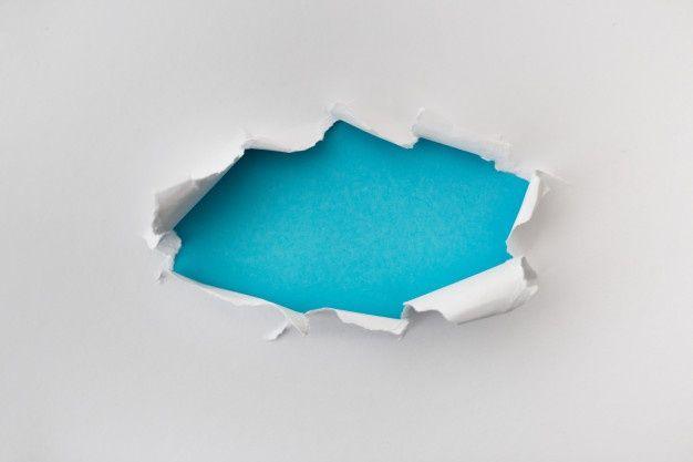 Agujero Rasgado En Color Blanco Y Rasgado De Papel Con Fondo Azul Textura De Papel Rasgad Fondos Para Diapositivas Elegantes Insignias De Boda Fondo De Iphone