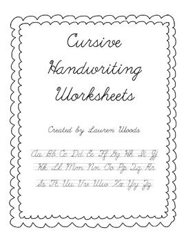 This collection of Cursive Handwriting Worksheets is simple and ready to use! There is one page for each letter, providing both capital and lowercase practice. For each letter there is a row of tracing with direction arrows, a row of tracing without arrows, and a lined row for independent practice.