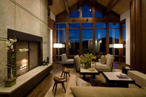Contemporary and rustic.