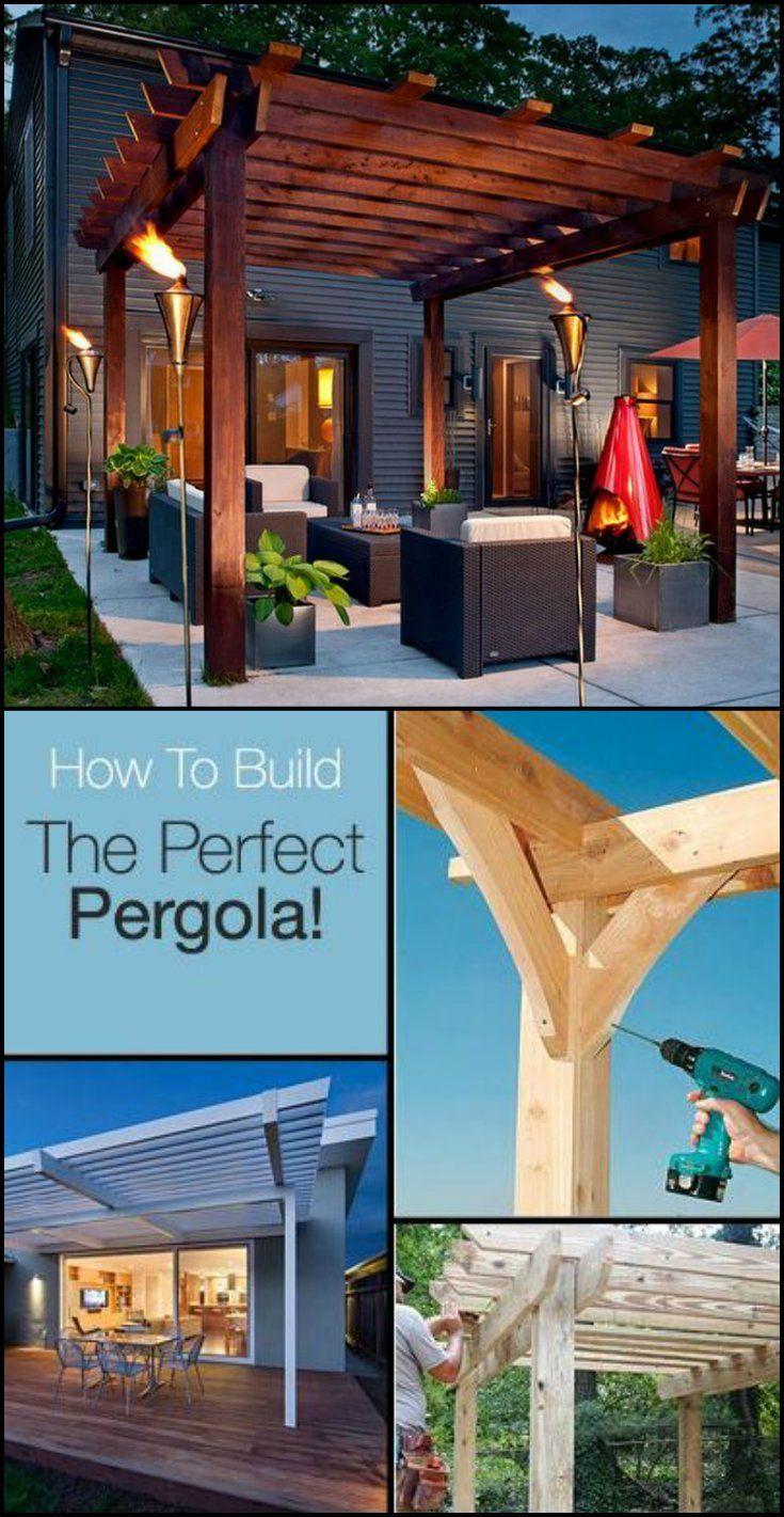 Top 25 ideas about backyard pergola on pinterest pergola for Build your own pergola