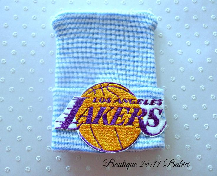 READY TO SHIP Newborn Hospital Hat with Los Angeles Lakers Emblem-baby boy basketball-baby boy lakers hat-infant lakers hat-newborn lakers by Boutique2911Babies on Etsy