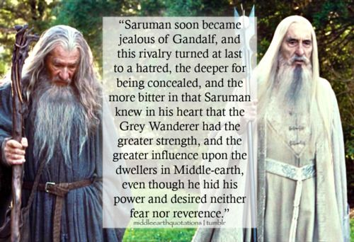 - About Saruman, Unfinished Tales, The Hunt for the Ring, (iii) Concerning Gandalf, Saruman and the Shire Notes