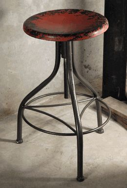 Industrial Metal Stool Red                                                                                                                                                                                 More