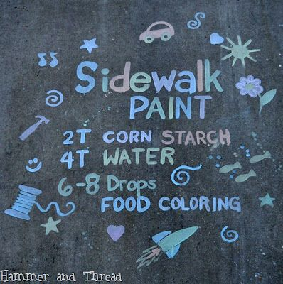 Easy Homemade Sidewalk Paint | Extreme Canadian Coupons