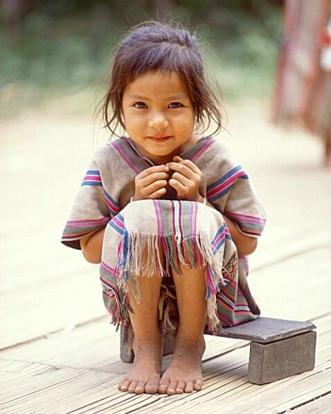 source: Little girl, nord de la Thaïlande par Jim Zuckerman
