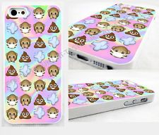 Tie Dye,monkey poo,poop,smiley,Emoji, iPhone 4,4s, 5C, 5S,5, glossy cover Case,