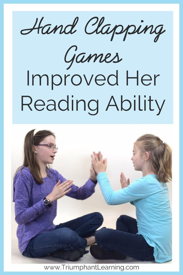 We tried so many things to improve her reading ability. Over the course of a few months, her reading ability had definitely improved. Could hand clapping games have made such a noticeable difference?