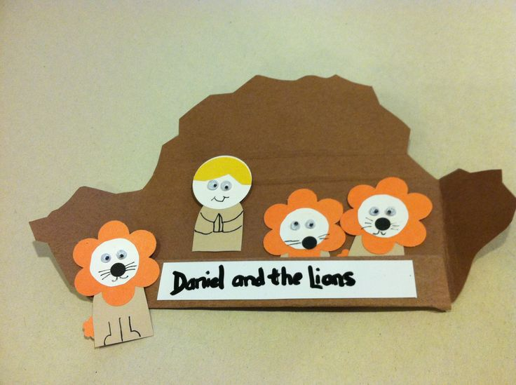 Daniel in the lions den bible craft