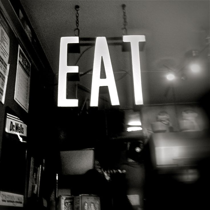 Food Photography, Indulgence, Celebrate, Vintage Sign, Eat, Diner, 8x8, Wall Art,  Black and White Fine Art Photography. $25.00, via Etsy.