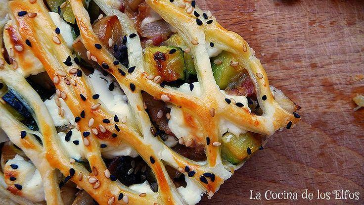 Enrejado de Verduras (con Bacon y Queso de Cabra) / Vegetables Grille ( with goat cheese and bacon)