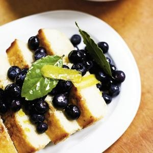 Lemon-Thyme Pound Cake with Blueberries & Bay Laurel Syrup :: find SC ...