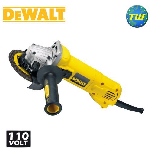http://www.twwholesale.co.uk/product.php/section/10392/sn/DeWalt-D28113-LX DeWalt D28113 4.5 / 115mm Angle Grinder 110V has a powerful 900W motor and an anti-vibration side handle to help improve your comfort on cutting and grinding tasks. The angle grinder's dust ejection system removes the majority of debris from the air which passes over the motor - thus preventing abrasion and tracking.