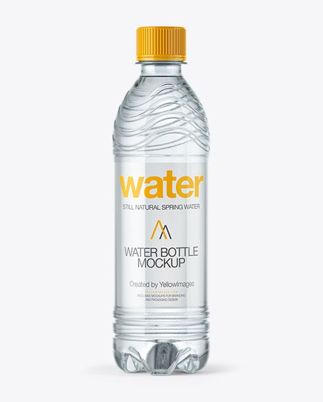 PET Water Bottle Mockup (Preview)