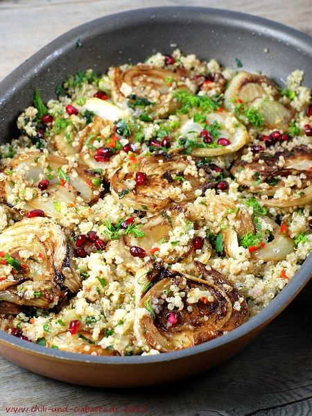 Fenchel-Quinoa-Salat mit Granatapfelkernen