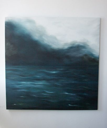 Moody seascape oil on canvas, painting by Gabi lee www.gabilee.co.za