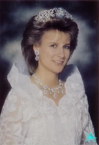 The Duchess of Gloucester wearing the Teck Turquoise Tiara