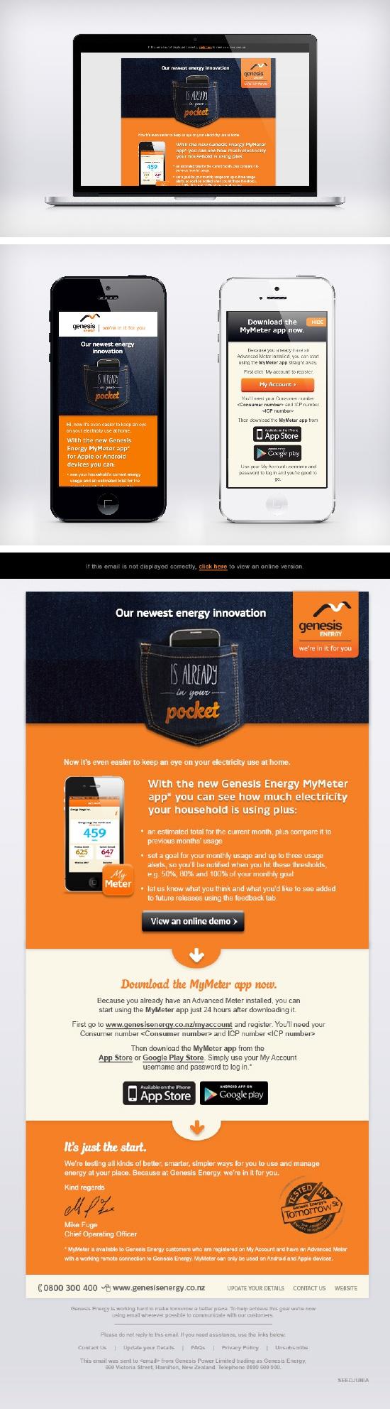 Genesis Energy. My Meter App communications.