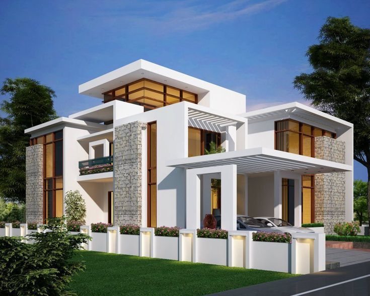Indian architect beautiful exterior home design