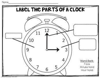 telling time to the hour and half hour time to the hour kindergarten math activities clock. Black Bedroom Furniture Sets. Home Design Ideas