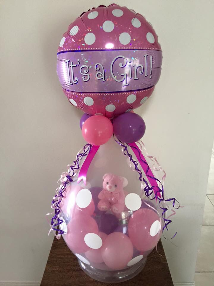 It's A Girl decor created by Miss Becky's Balloons #GETSTUFFED