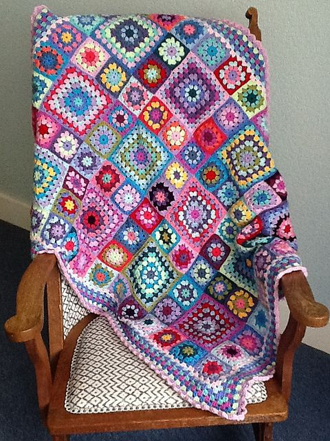 granny squares. Love the big and small.