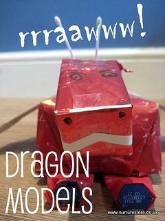 Dragon craft ideas perfect for story telling and imaginary play.