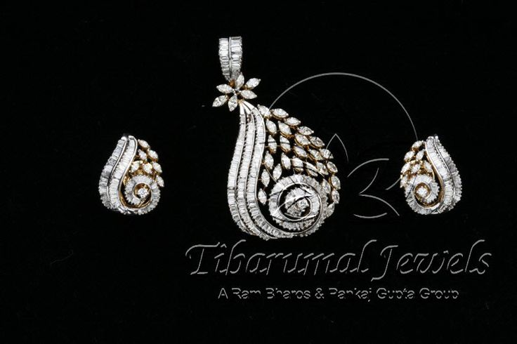 Diamond Locket Set | Tibarumal Jewels | Jewellers of Gems, Pearls, Diamonds, and Precious Stones