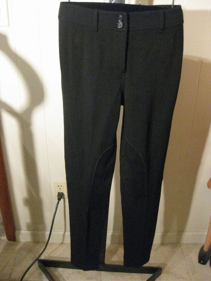 PETITE BLACK STRETCH PONTE KNIT RIDING PANTS LEGGINGS TALBOTS SIGNATURE 14P $139 #Talbots #RIDINGLEGGINS