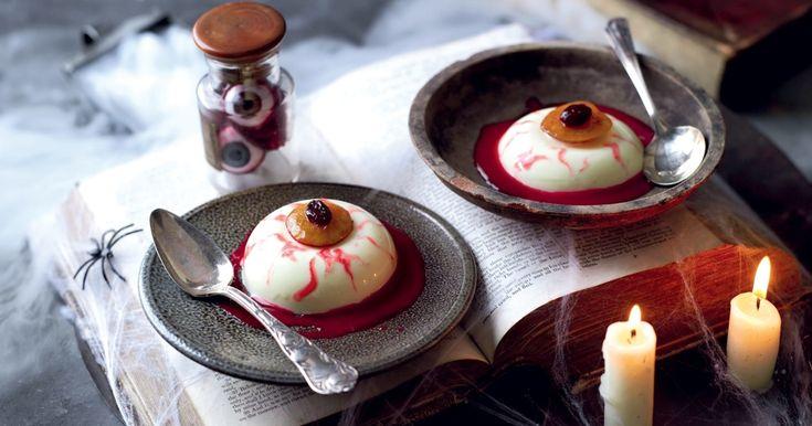 dessert sanglant, façon panna cotta #halloween