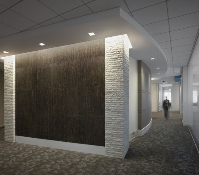 torzo tiikeri wall panels in corporate office designed by