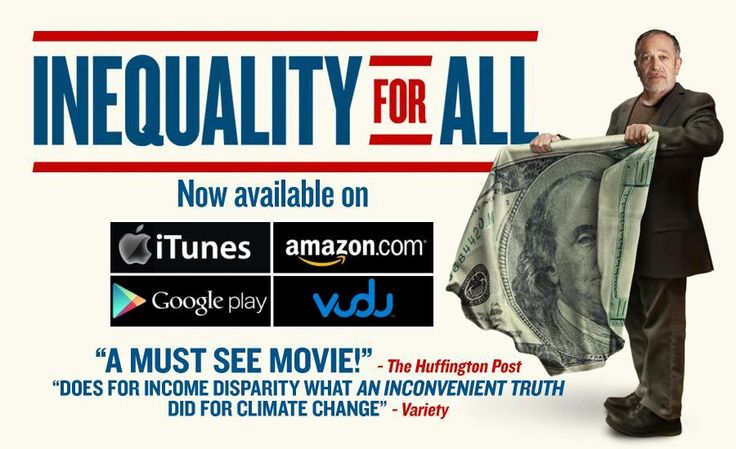 a discussion of income inequality in the film documentary inequality for all Is inequality for all family friendly find out only at movieguide the family and christian guide to movie reviews and entertainment news.