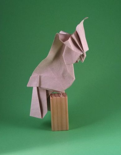 Origami Cockatoo by Hoang Tien Quyet folded by Gilad Aharoni