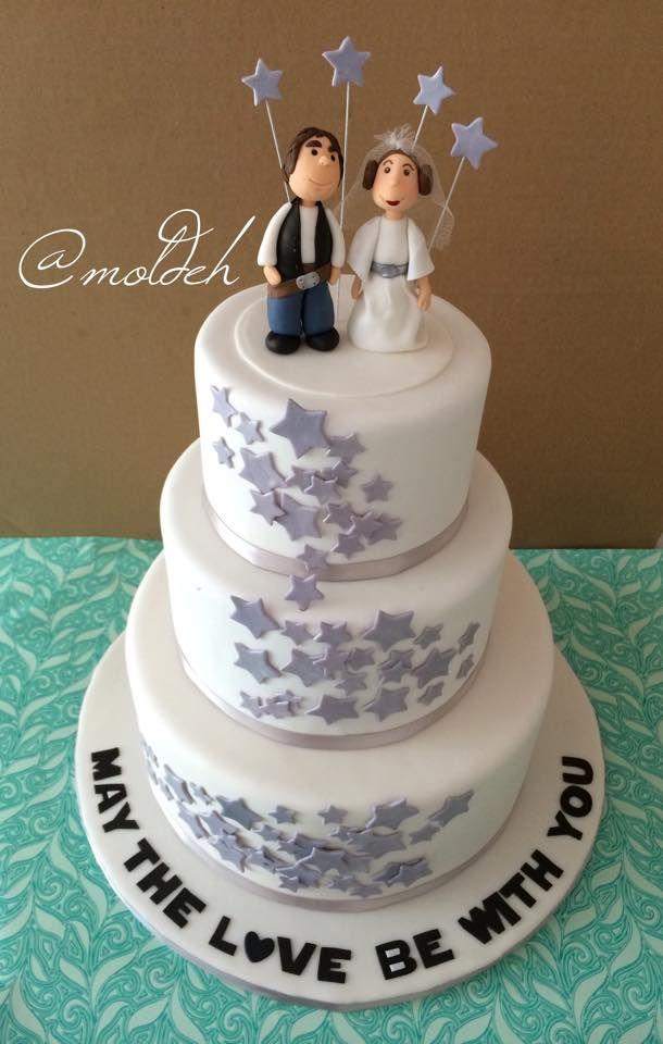 Pastel de Boda de princesa Leia y Han Solo // May the love be with you // Princess Leia and Han Solo wedding cake