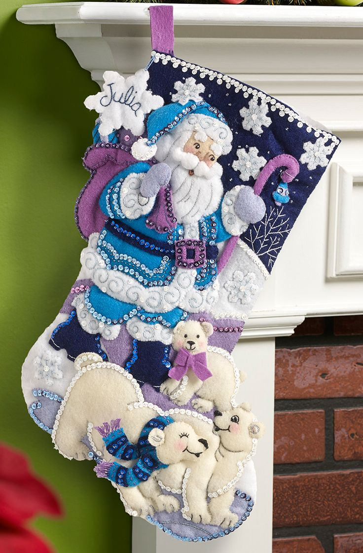 September 2015 released Bucilla stocking kit called Arctic Santa. Available at MerryStockings.