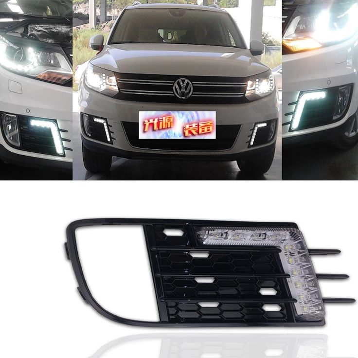 125.00$  Buy here - http://aliez4.worldwells.pw/go.php?t=2020062422 - for VW Tiguan 2013-14 led drl daytime running light car-special with yellow turn signals and auto dimmer control super bright 125.00$