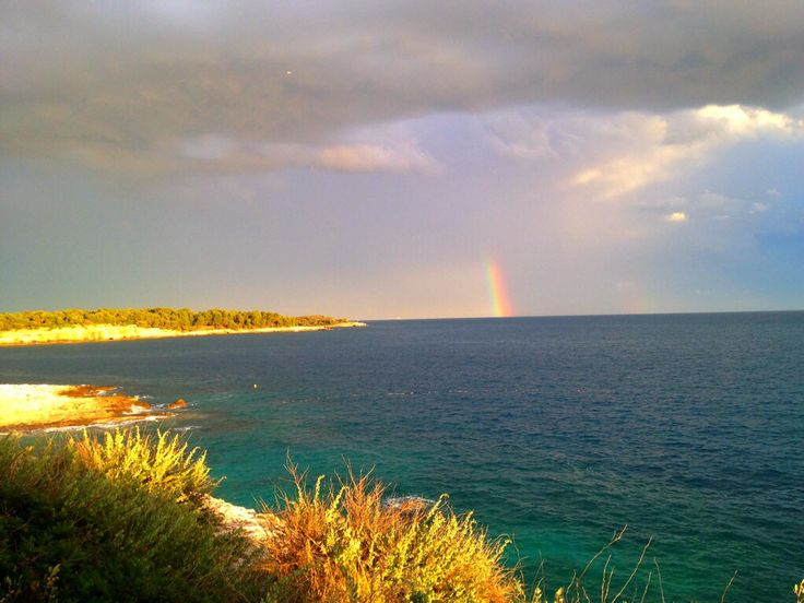 rainbow right after the storm #istria #croatia