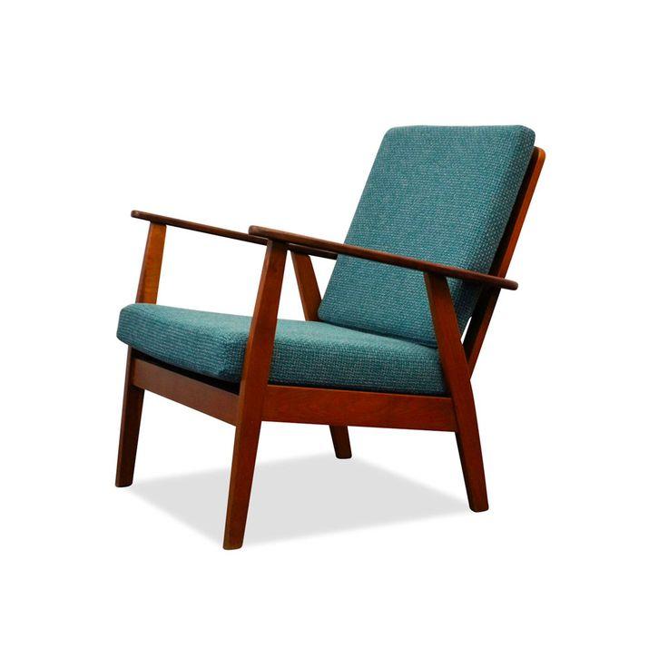 Deense teak fauteuil uit de jaren 50 60
