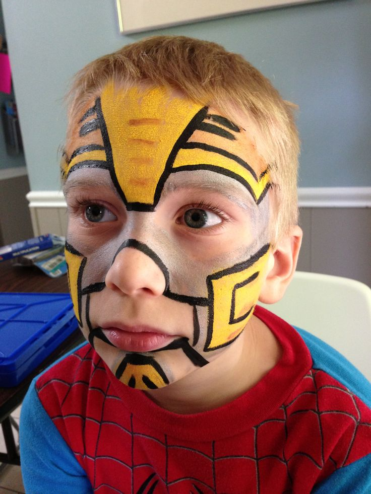 Bumblebee Transformer Face Painting Ideas