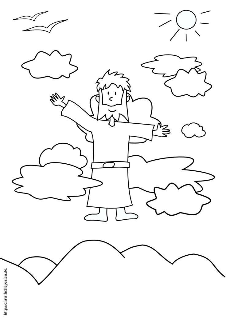 Himmelfahrt ausmalen | Christliche Perlen