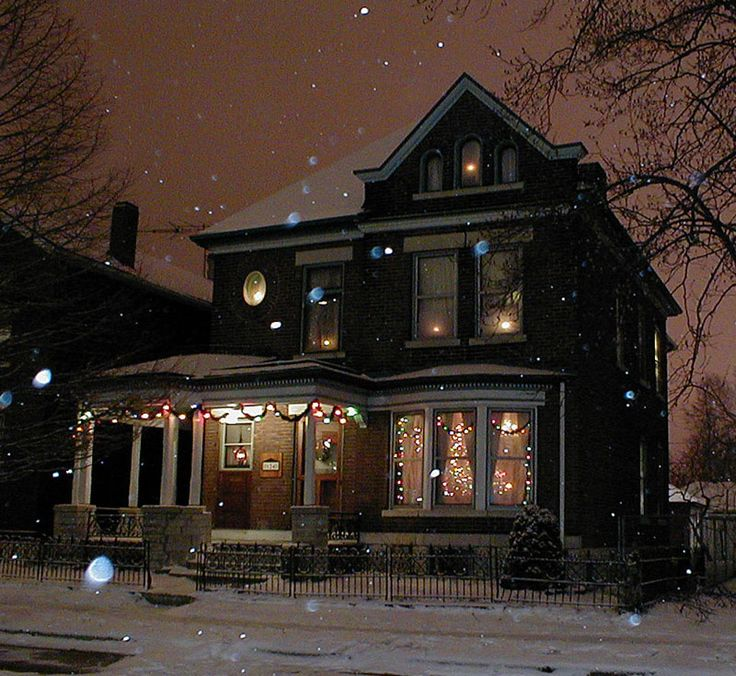 This is my house.  I live here in my dreams.  The warmth spills out of the window to warm the coldest night.  The snow is softly falling and Christmas will soon be here.  I will open my doors and the ones I love will rush in out of the cold.  The wind chilled cheeks will press up against mine and the night will be magical... so may it be.