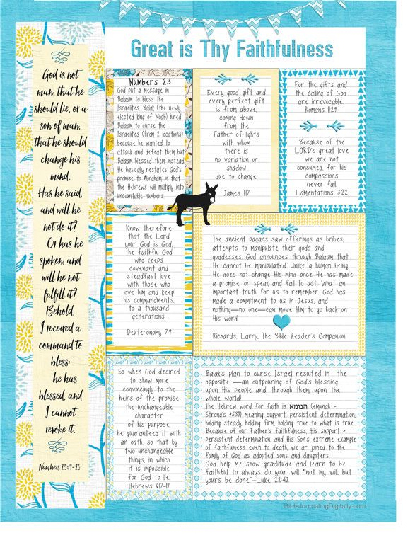 Bible Journalling Planner Kit Printables to help you record Bible Study in Your Planner with Planner Pages  Combine this kit with planner