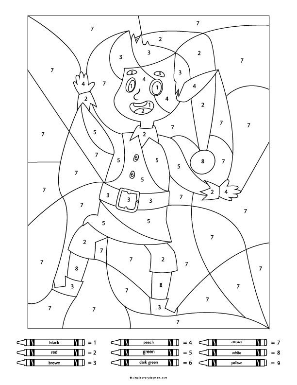Christmas Color By Number Worksheets For Kids Christmas Coloring Pages Santa Coloring Pages Christmas Colors
