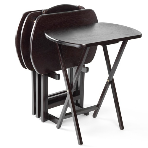 Lipper 5 Piece Folding Snack Table Set