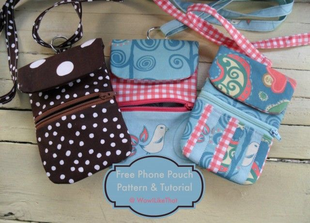 Phone Pouch with zipper @ wowilikethat.com