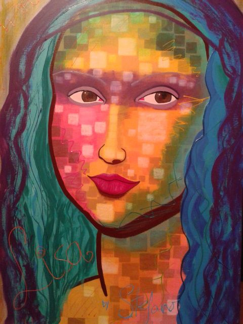 Lisa by:STEFANO acrylic on canvas fashion art