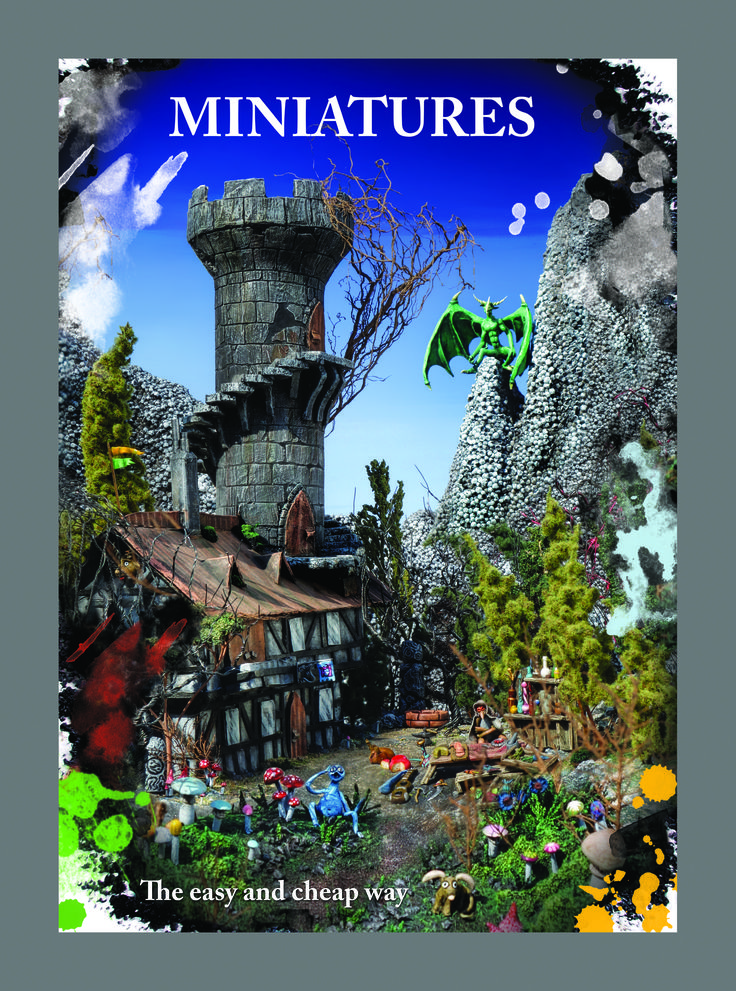 Front cover on my book on miniature-building