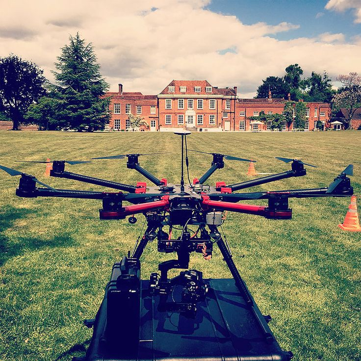 Behind the scenes on a location shoot with a drone. RGB Digital Ltd.
