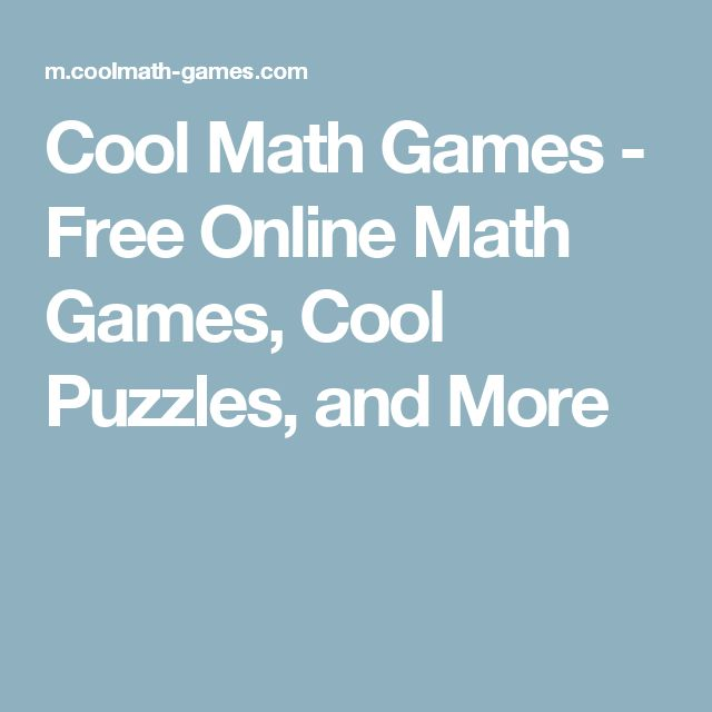 Cool Math Games - Free Online Math Games, Cool Puzzles, and More